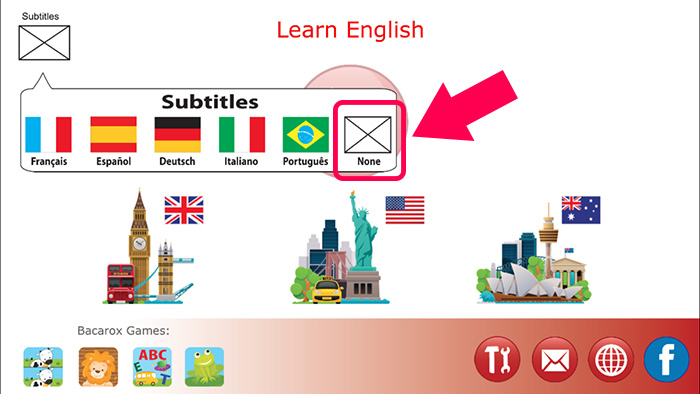 Learning English app