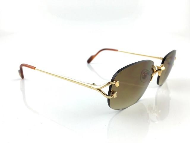 occhiali cartier c decor venice vintage sunglasses 18kt gold