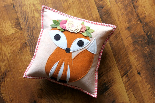 Fox Pillow in Pink!