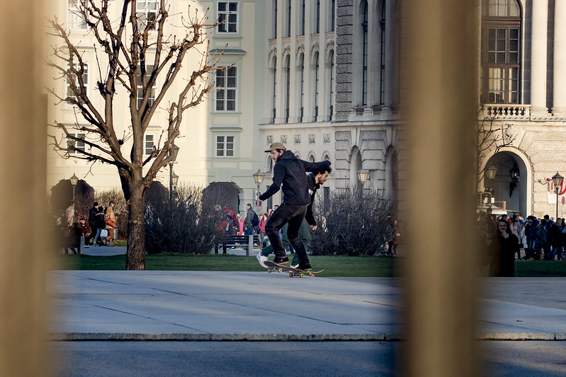 Skaters - Heldenplatz in Vienna, Austria