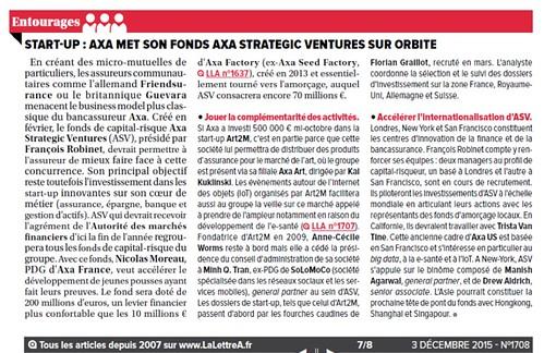 AXA launched @AXAVentures