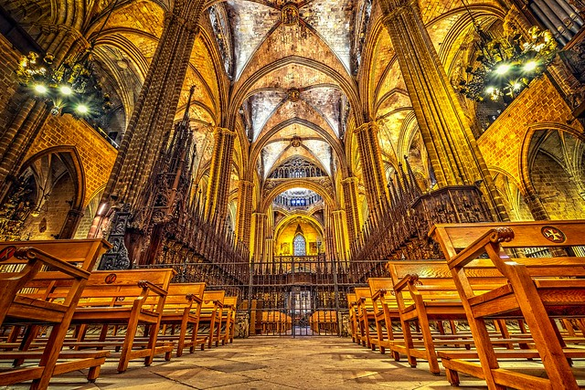 In the house of God (Barcelona Cathedral)