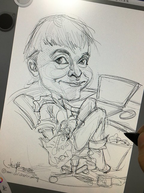 Caricature Sketch for client.....
