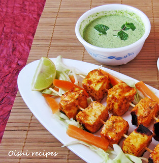 Paneer Tikka at Home