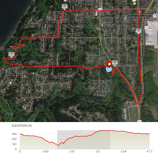 Today's awesome walk, 4.18 miles in 1:26, 8,980 steps, 440ft gain