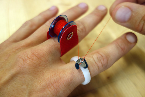Bobbin ring and cutter ring