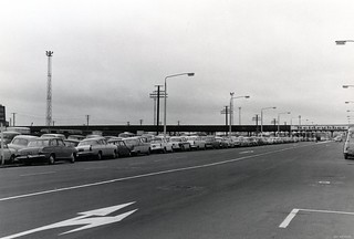 Cars parked along Cumberland Street 1972