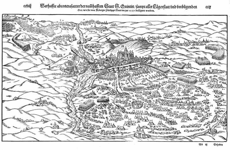 Plan of Battle of St. Quentin, by Heribertus