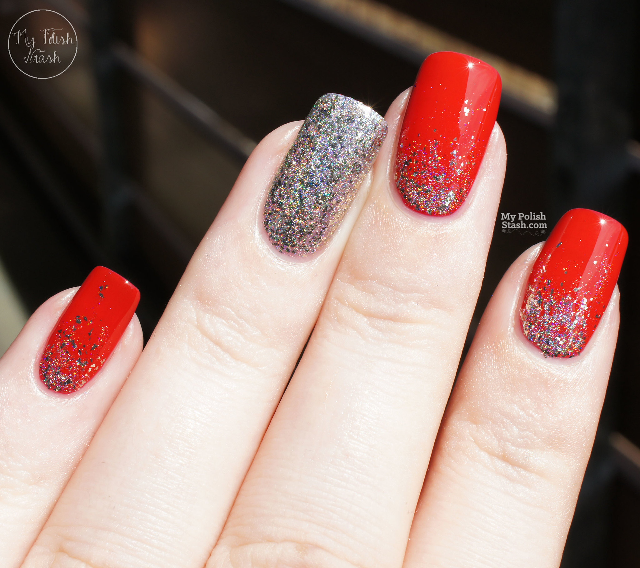 essie-really-red-FUNlacquer-pay-day-glitter-gradient-2