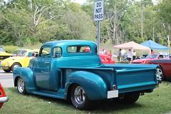 custom car(0.0), ford(0.0), hot rod(0.0), automobile(1.0), automotive exterior(1.0), pickup truck(1.0), vehicle(1.0), truck(1.0), chevrolet advance design(1.0), antique car(1.0), vintage car(1.0), land vehicle(1.0), motor vehicle(1.0),
