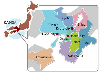 Kansai Region Map