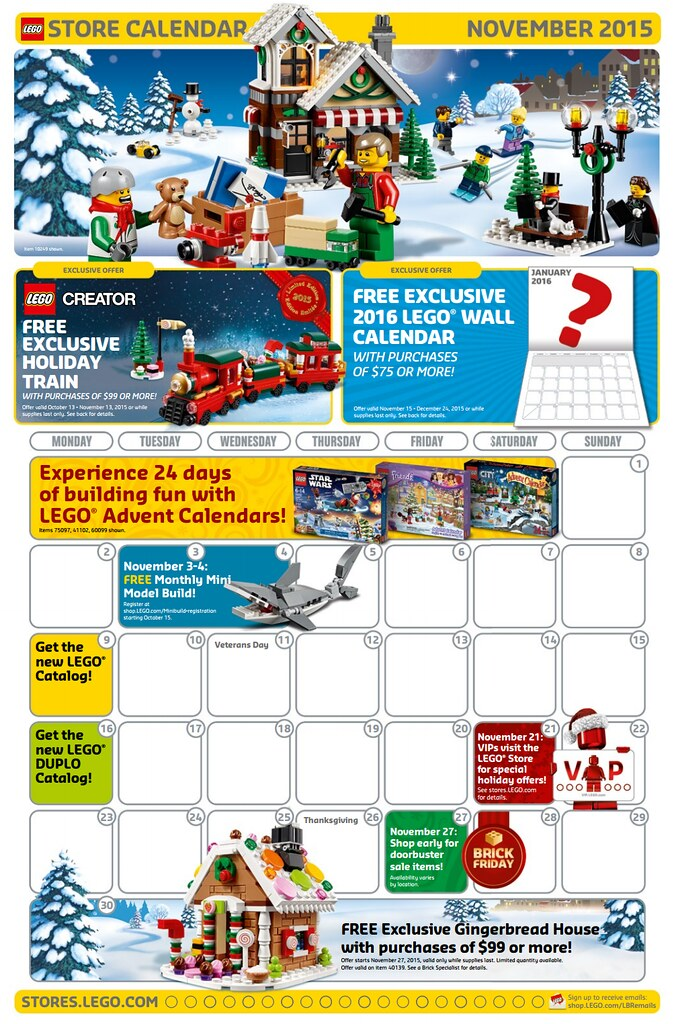 LEGO Store Calendar - Novembre 2015