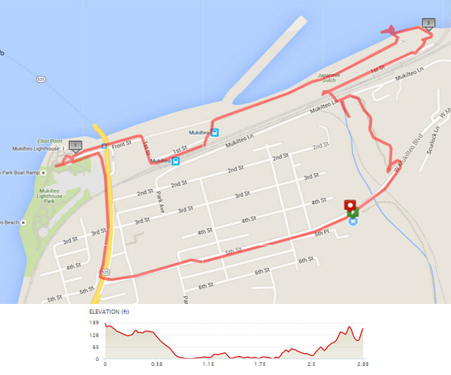 """Today""""s awesome walk, 2.9 miles in 1:08, 6,191 steps, 186ft gain"""