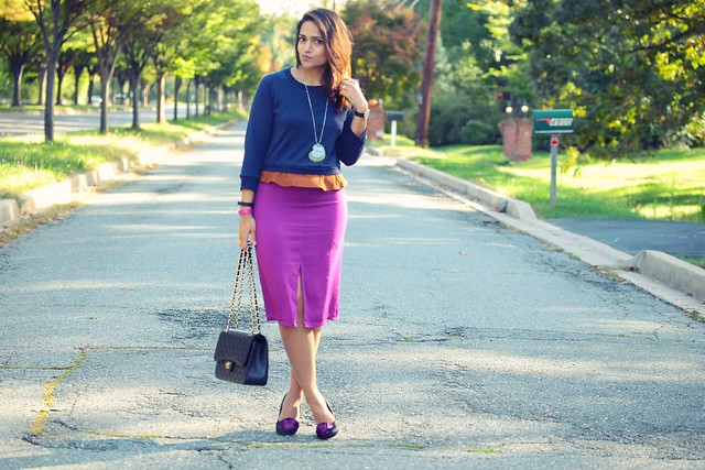 LOUP Bruno Color-Block Dress via IFCHIC Shoes - Barratts  Necklace - Macy's Bag - Chanel Tanvii.com