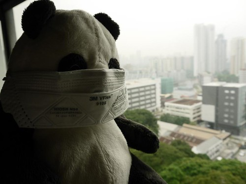 Zaczac isn't too happy having to put his mask on due to SGHAZE.