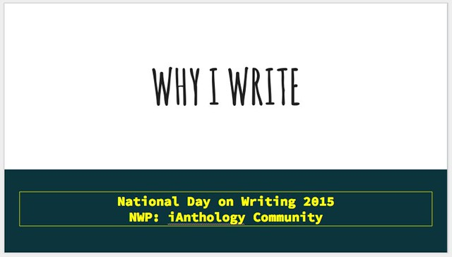 Why I Write for NDOW