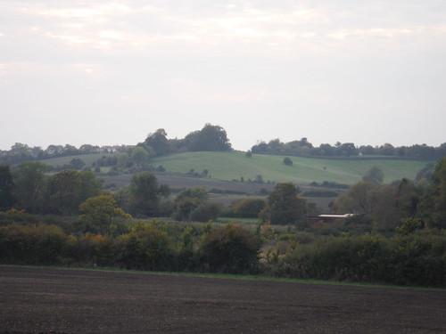 Harlington on its hilltop site
