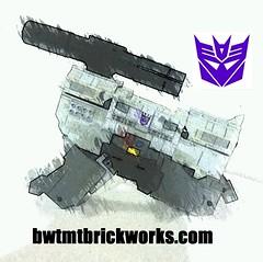 Megatron Pistol Mode Sneak Peek by BWTMT Brickworks