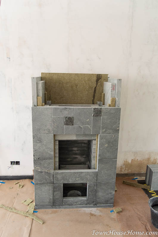 soapstone fireplace installation fifth layer