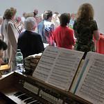 Doris begleitet an der Orgel den Chor der Banater Schwaben Karlsruhe beim Billeder Heimattag 2011. Sie hat Musik studiert und danach, sozusagen als 2. Standbein, Wirtschaft.