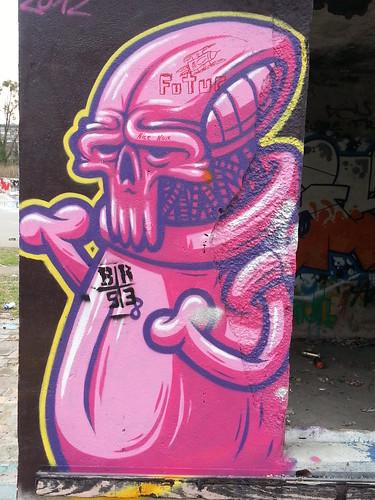 Graffiti lüstern zum Fenster