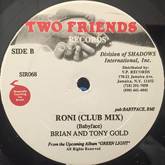 BRIAN AND TONY GOLD:RONI(LABEL SIDE-B)