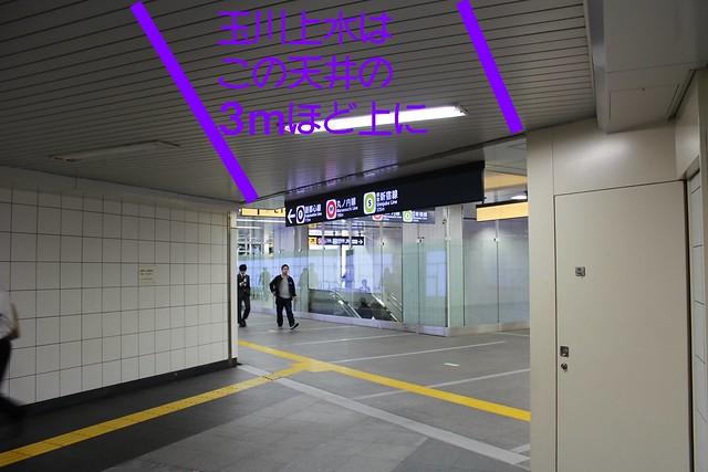 新宿三丁目駅と地下歩道と玉川上水 (3)