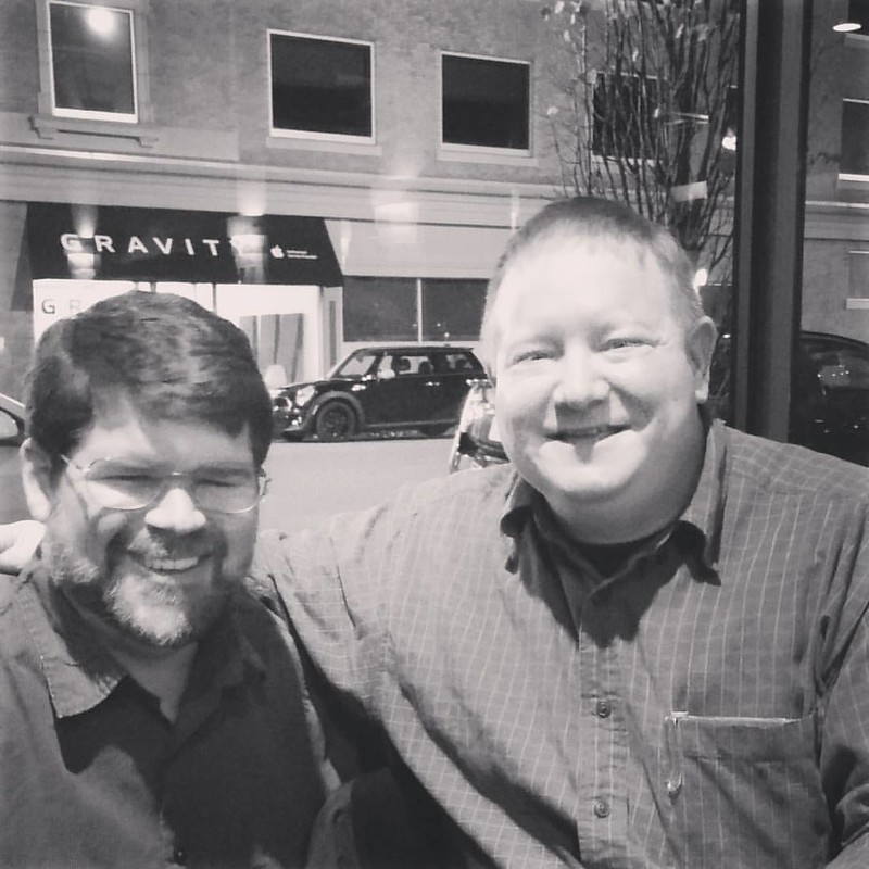 My friend Steve and I at Columbia Atheists Wed.