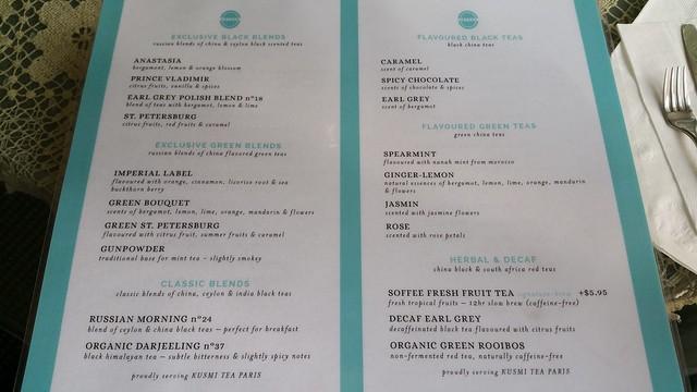 2015-Dec-4 Soffee Cafe - partial tea menu