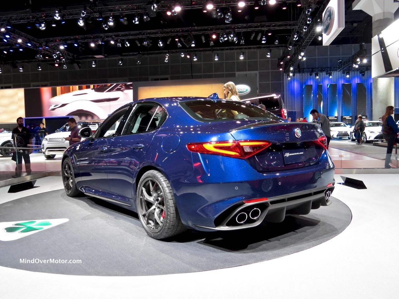 Alfa Romeo Giulia Rear Blue