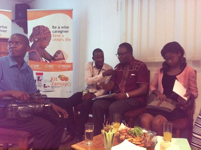 Dr Joseph Kasonde, Zambia's Hon Minister of Health deals with press questions following the Kit Yamoyo Shoprite launch