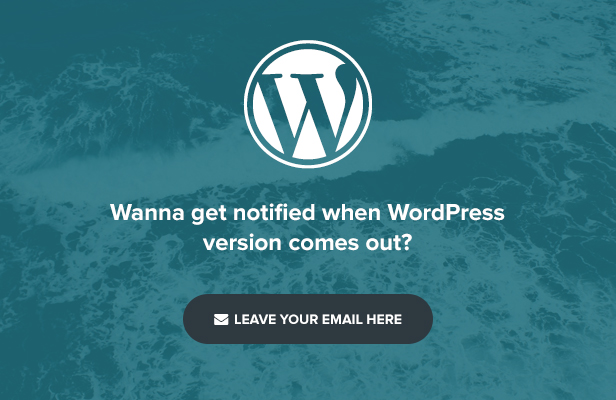 subscribe to receive notification of WordPress theme
