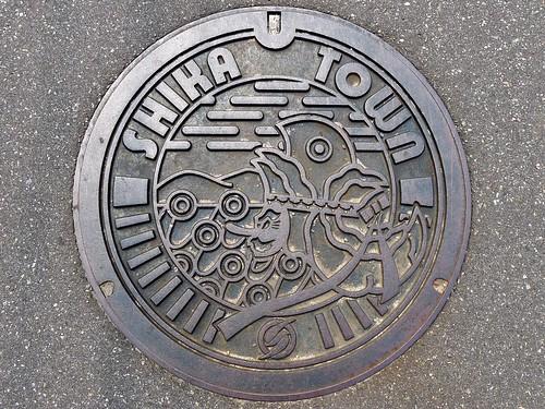 Shika Ishikawa, manhole cover 2 (石川県志賀町のマンホール2)