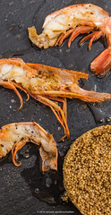 Grilled Patagonian prawns (Pleoticus muelleri), qu…