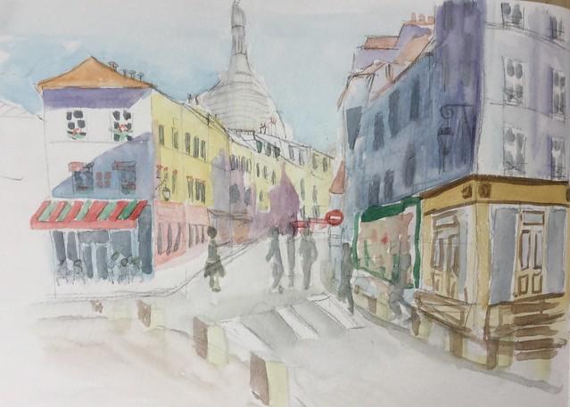 Montmartre à Paris le 11 octobre 2016