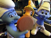 20160416 - yard saleing - IMG_0718 - Applejack visits The Smurfs