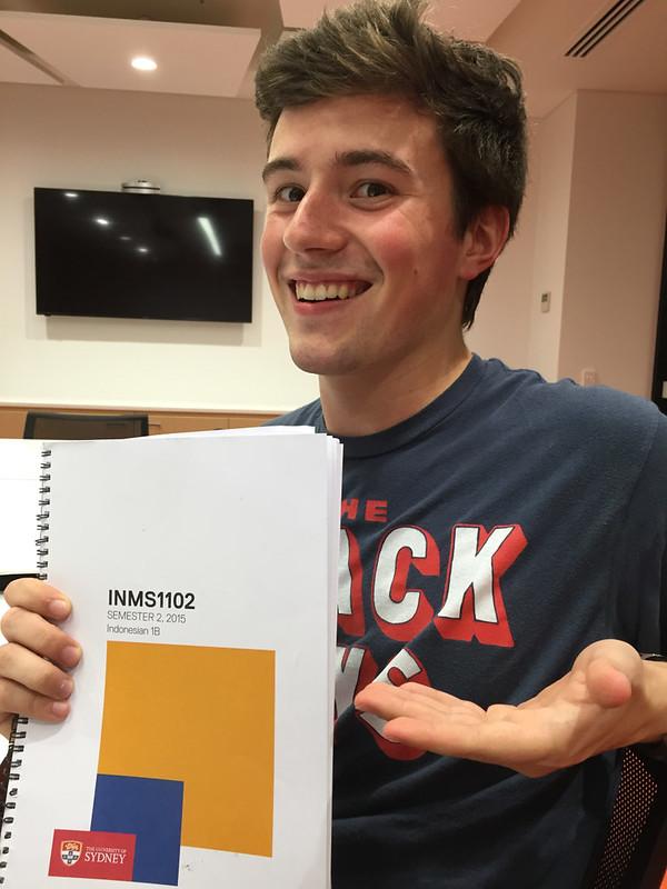 Jugan, Ashleigh; Sydney, Australia - Vacations - Nick holding book