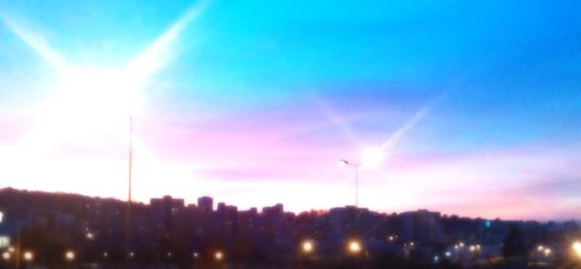 Le ciel est une palette de couleurs