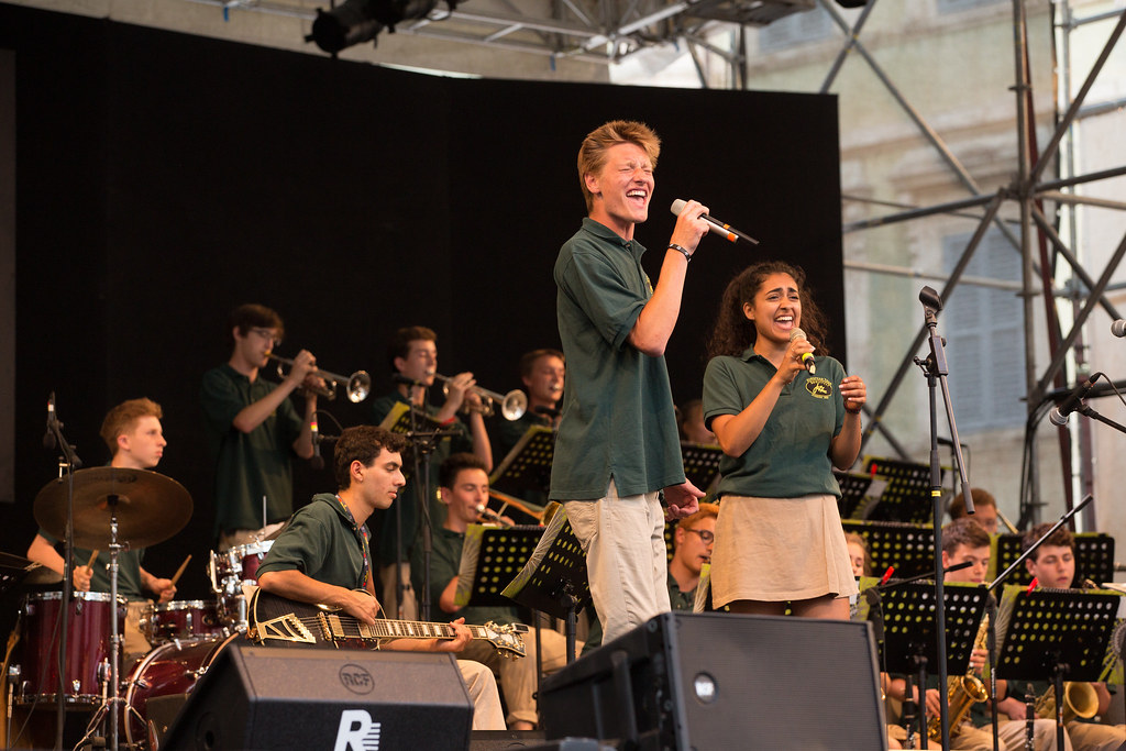 Roosevelt High School Jazz Band performs in the Umbria Jazz Festival in Perugia