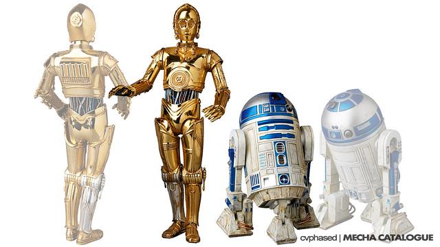 Medicom Toy - MAFEX C-3PO + R2-D2 Set