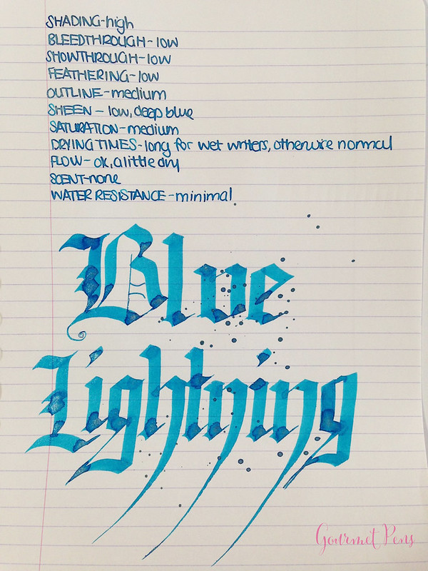 Ink Shot Review Diamine Blue Lightning (6)