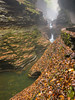 Watkins Glen view in the gorge on a misty fall day. by snapify