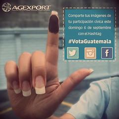Listos para estas elecciones? Yo sí!Hagamos viral este hashtag: #VotaGuatemala! #Guatemala