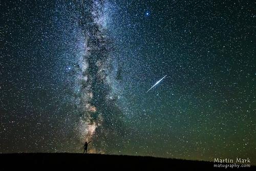 VCSE - Mai kép - Iridium-felvillanás és a Galaxis