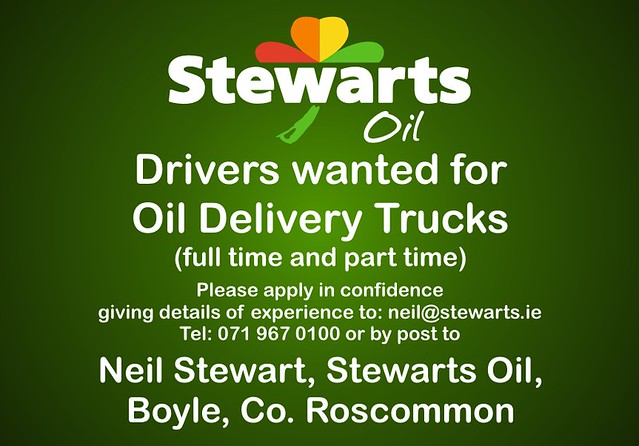 Stewarts drivers advert