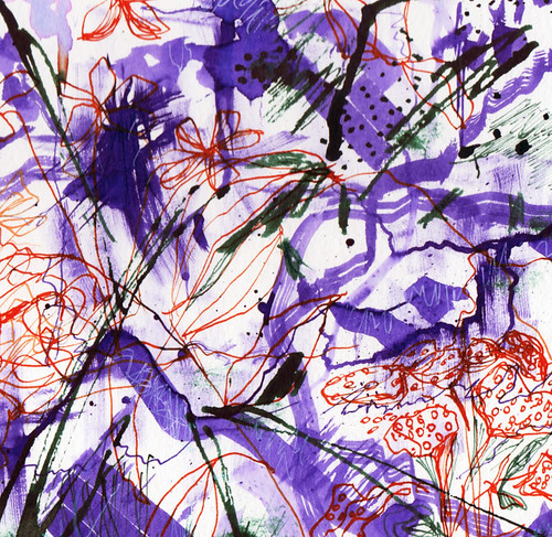 Abstract in purple #inktober