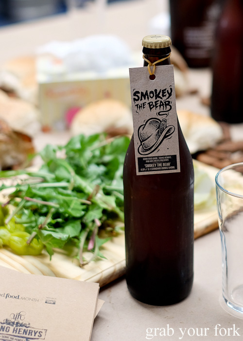 Smokey the Bear beer by Young Henrys at the Feral Party for Good Food Month 2015