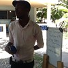 Jure explain the students the project Haiti through the eyes of the wise Elders