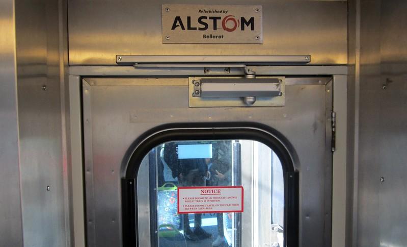 Alstom Comeng train signage
