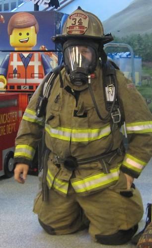 Assistant Fire Chief Stephen Jones in his gear